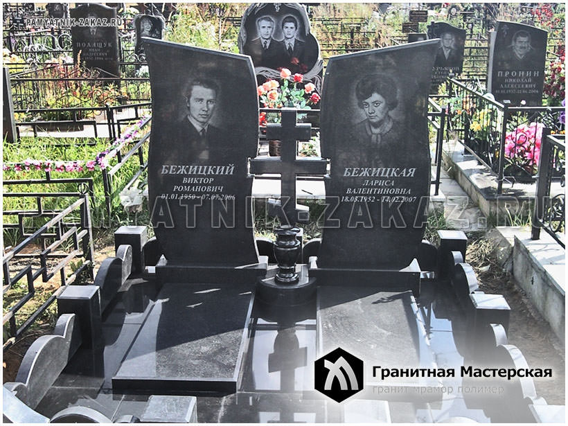 Памятники из гранита фото двойные мрамора изготовление памятников в петрозаводске оптом